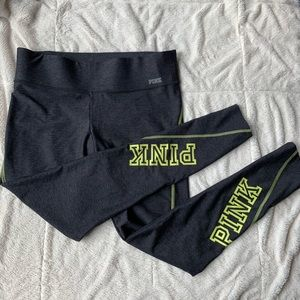VS Pink Yoga Legging with Neon Letters